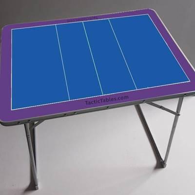 Coachbord tafel Volleybal 80 x 60 x 70 cm