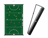 Sportec Tactics Rollable Coaching Board Football with cover