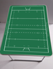 Coachboard tafel Rugby 80 x 60 x 70 cm